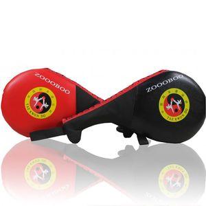 1Pcs PU Leather Taekwondo Pad TKD Wrist Strap Portable Double Paddle Kicking Punching Target Mat