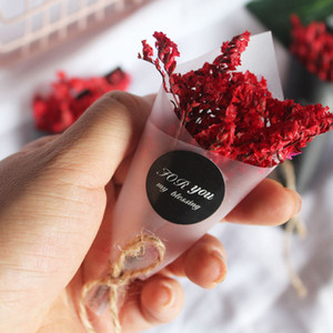 Small Super Mini Dried Flower Gift Box Filler Lipstick Accompanying Present For Home Decor Red Grass Bouquet