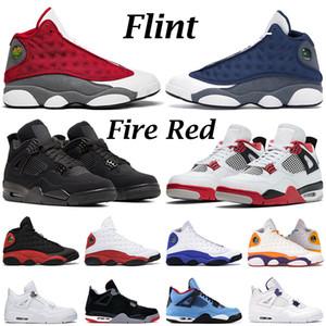 Novos nike air jordan 4 retro 13 tênis de basquete masculino feminino 4s 13s jumpman Fire Red Black Cat O que o Red Flint Chicago Playground tênis tênis masculino