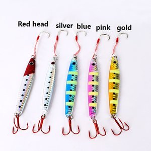 Metal baits lures lead alloy metal weight with Hologaram Paper fishing weightn jig good Luminous effect for saltwater Fishing
