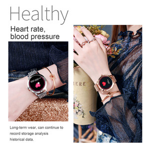 IP68 Fashion Heart Watch Women Reminder Rate Fitness Call LW10 Tracker Smart Message Waterproof Smartwatch IOS Android For Blood Pressu Anst