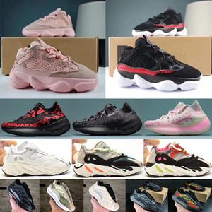 2020 Новая Детская обувь Kanye West Wave Runner 7OO девушки кроссовки 5OO 38 ° свет малышей тренер мальчика Кроссовки детские спортивные туфли