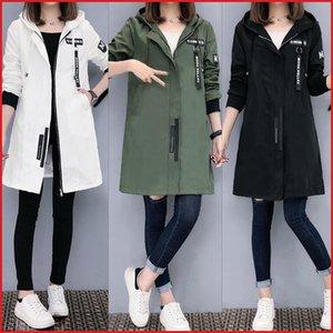 Chaqueta Semfri Mujeres Otoño Invierno Chaqueta Hombre delgado del tamaño ropa de béisbol K Pop longitud media rompevientos Coats Y201001