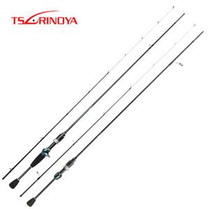 TSURINOYA Destrezza Spinning Canna da pesca 1.92m UL punta veloce in fibra di carbonio di azione portatile Bass carpa trota filatura Rod Pole 201022