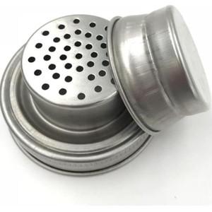 MASON JAR SHAKER LIDS Copertura in acciaio inox per la bocca normale Mason Canning Jars RUSC a prova di cocktail Agitatore Dry Sur cocktail 70mm EWD2553