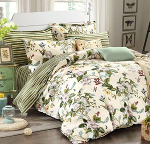 winlife floral bedding american country style duvet cover set shabby vintage bedroom set girls bed cover 100% coon bed