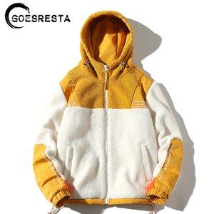 Moda selvagem Outono E Grosso Inverno Streetwear solto casaco quente GOESRESTA 2020 Marca Novo Homens 1111