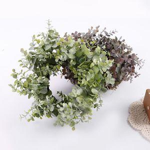 21-30cm DIY Hanging Wreath Eucalyptus Rattan Wreath iron Ring Hoop Door Hanging Craft Party Decorations Easter Wedding Wreaths