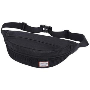 Grande capacità in nylon vita pack fanny pack per uomo casual black tracolla borsa borsa da uomo piccole borse a tracolla