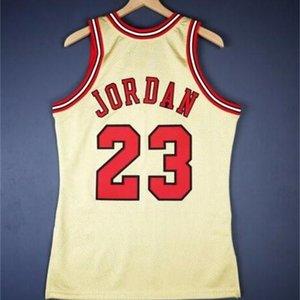 Personalizado 321 Jóvenes Michael Mitchell Ness 95 96 Gold College Basketball Jersey Size S-4XL o Custom Cualquiera Nombre o Número Jersey
