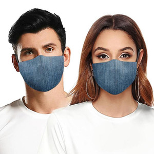 Fashion Face Mask Dust-proof Breathable Washable Reusable Protective Mask Jeans Camouflage Printing Masks For Men Women Free Shipping