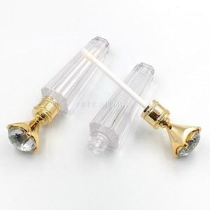500 adet Hotsale 2.5 ml Temizle Dudak Parlatıcısı Ambalaj Lüks Elmas Kap Dudak Parlatıcısı Boru Boş Tüpler Doldurulabilir Konteynerler1