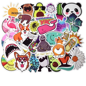 50pcs Puppy Kirky DIY Sticker Lot Cute Animal Posters Graffiti Skateboard Snowboard Laptop Luggage Motorcycle Home Decal Gifts for Kids