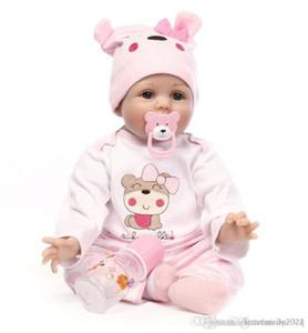 Grande 55CM silicone suave corpo bebes Renascer boneca brinquedo para meninas aniversário bebê recém-nascido presente Bedtime Natal Educação Infantil crianças de presente
