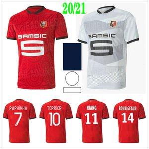 2020 2021 Stade Rennais Futebol Jerseys Raphinha Niang Terrier Bourigeud Camavinga Bourigeaud Personalizado 20 21 Rennes Adult Kids Football Shirt