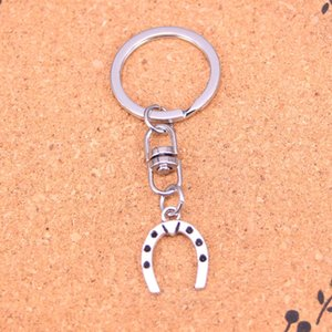 Fashion Keychain 21*16mm lucky horseshoe horse Pendants DIY Jewelry Car Key Chain Ring Holder Souvenir For Gift