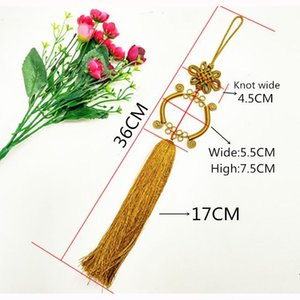 1PCS Guanyin Bassin Chinois Knot Tassel Diy Bijoux Rideau Veille Home Textile Accessoires Décoratifs Artisanat Pendentif H Jllrji
