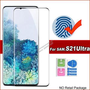 5D curvado tampa completa protetor de tela de vidro temperado para Samsung Galaxy S21 Ultra S20 Note20 S10 Plus S8 S9 Note8 Nota9 S10B Vidro