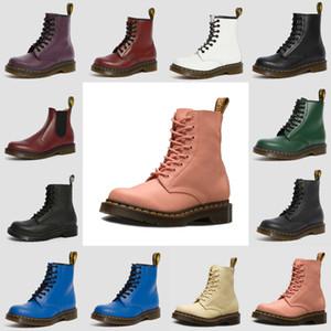 2020 Yüksek Dr Martins 2976 deri kürk chaussures botlar 1460 kış kar patik doc ayakkabı martin spor ayakkabısı üçlü siyah beyaz kırmızı erkekler kadınlar b