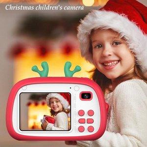 Kinder-720P HD Exquisite Weihnachtsgeschenk Digital-Kinder Kamera Toy HD 1800W Front Rear Screen Video Recorder Fotografie Geschenk