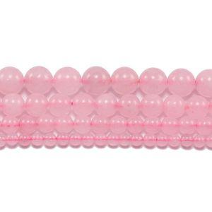 1strand lote 4 6 8 10 12 milímetros rosa rosa pedra cristal pedra contas soltas espaçador grânulo para jóias fazendo bracelete de colar diy h jlppsj