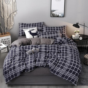 Bedding Set Twin Full Queen King Size Single Bed Duvet Cover Sets Print Bed Linen Quilt Covers XF754-37