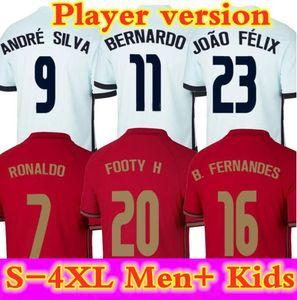 2020 Jerseys de football Joao Felix Neves Bernardo B. Fernandes Cancelo Ruben Neves Diogo J. 2021 Team National Team Men + Kit Kit pied