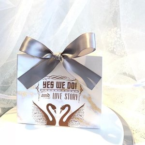 Candy Creative Romantic Souvenirs Favors Favores Cajas de regalo / Bolsa Bolsas de boda Paquete Gracias Mármol 20pcs Chocolate NBXKR