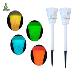 Solar Light hollow butterfly inserting ground lamp garden courtyard lawn path colored light   white light mapping butterfly lamp