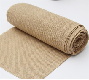 30cm*10M Table Flag Linen Roll True Colors Chair Back Wedding Celebration Decorate Tablecloth Hessian Burlap High Quality 32tn M2