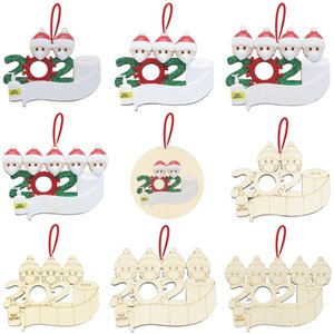 Christmas Decoration DIY Greetings Quarantine Christmas ornaments 2020 Party Pandemic Social Distancing Christmas Tree Pendant Accessories