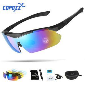 Copozz Polarized Vélo Lunettes à vélo en plein air MTB lunettes de montagne lunettes de lunettes Vélo Sun lunettes Vélo Sport Lunettes de soleil Myopie 5 lentille Q1224