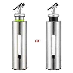 / 250ml Visible Frasco de óleo de cozinha em aço inoxidável Leak-proof 150 Soy Sauce Tempero Vinagre Galheta armazenamento Dispenser