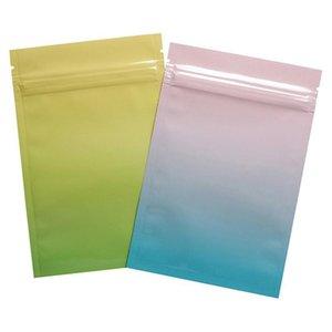 2021 Motif de marbrage brillant aluminium Feuille de fermeture à glissière à fermeture à glissière de l'emballage de l'emballage reclosible à plat auto sceau