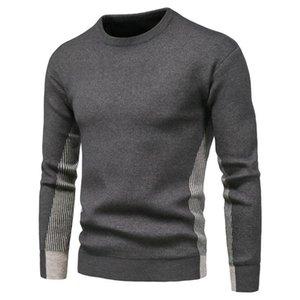 2020 Nuovi pullover O-Collo Uomo Maglione Casual Colore Casual Maglione a strisce Uomo Autunno Moda Slim Fit Uomo