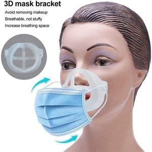 Mask Bracket PP 3D Face Mask Inner Support Frame Comfortable Breathing Washable Reusable 5pcs pack Clear Masks Bracket EWE2459