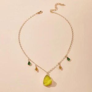 Natural Crystals Stone Pendant Chain Necklace for Women Dainty Chain Necklace Women Pendant