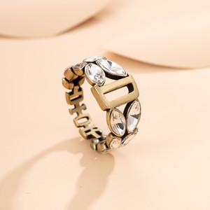 Dijia anel de moda feminina rede doméstica tendência D vermelho versátil temperamento alta versão dedo indicador minoria