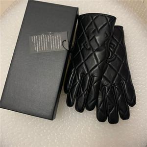 Высококачественные зимние кожаные перчатки и шерстяной сенсорный экран кролика меховые холодные - устойчивые теплые овчины пальцы