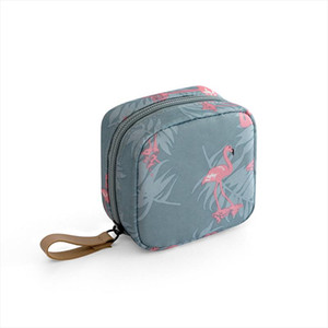 1 Pc Mini Solid Color Flamingo Cosmetic Bag Cactus Travel Toiletry Storage Bag Beauty Makeup Cosmetic Organizer Hot Sale