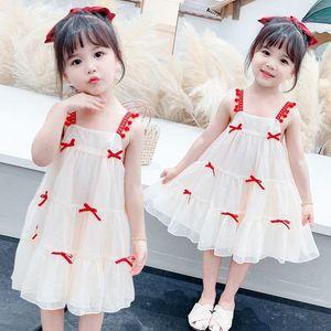 6R2A4 Маленький платье принцессы dressSuspender E8Jm6 dressSummer 2020 новый сладкий принцесса платье маленькая девочка лук подвязка юбка девушки