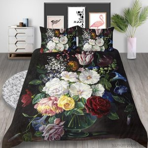 Bedding Sets 3D Set Oil Painting Watercolor Queen Size Duvet Cover Modern Home Bed With Pillowcase 2 3 Pcs