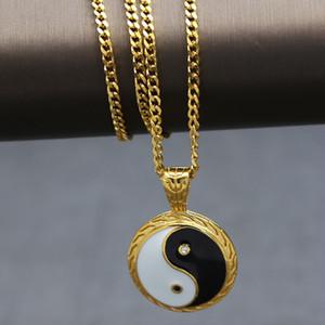 Tai Chi Bagua Pendant Hip Hop Necklace Pendant China Has Hip Hop Gai Same Style Tai Chi Yin Yang Hiphop