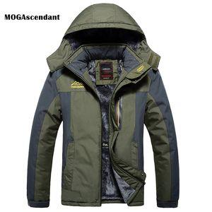 Men's Winter Fleece Military Down Jackets Windproof Waterproof Outdoor Thick Parka Windbreaker Warm Raincoat Coat Plus Size 9XL 201022