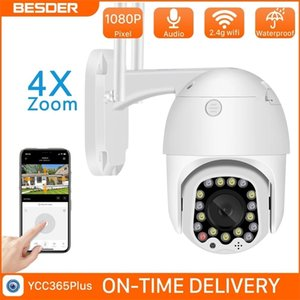 Betder 1080p WiFi PTZ IP Camera Videocamera Outdoor Alarm con Siren Light Cloud Auto Tracking Home Security Camera Videosorveglianza Videosorveglianza CCTV LJ201211