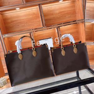 حقيبة يد onthego mm gm عملاق عكس اللون مزدوج تورون المرأة تسوق أكياس جلدية الكتف anvas حمل حقيبة سيدة M45321 M45373 M45359 M45320