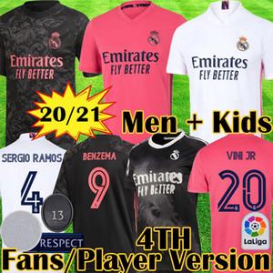 20 21 Versão do jogador Real Madrid Coleção Humana Coleção de futebol Jerseys Valverde Rodrgo Camiseta 2020 2021 Vini Camisa de Futebol Equipamento para crianças
