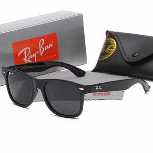 2021 Ray Marka Polarize Güneş Gözlüğü Erkek / Bayan Pilot Güneş UV400 Gözlük Aviator Ban Sürücü kutusunda 2140 Metal Çerçeve Polaroid Lens Yasakladı