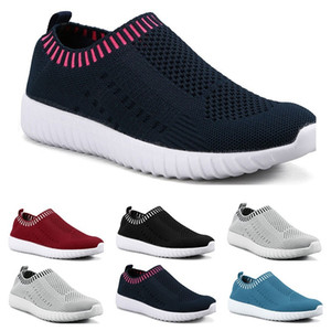 Best selling large size women's shoes flying woven sneakers one foot breathable lightweight casual sports shoes running shoes ten