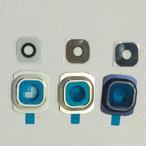 100pcs  Lot Original New Rear Back Camera Lens Glass Cover Circle With Frame Holder For Samsung Galaxy S6 G920 G920f G9200 Free Shipping